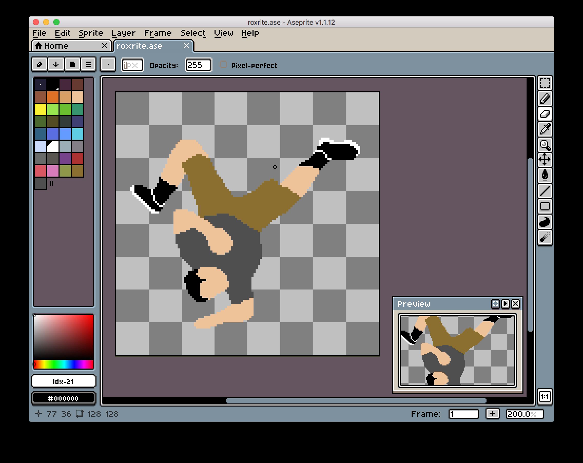The process of drawing my first bboy pixel art — AKA: Making a pixel